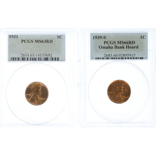 1931 & 1939-S Lincoln Cents (PCGS)