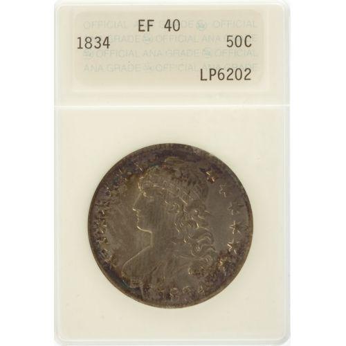 1834 Bust Half Dollar XF-40 (ANACS)