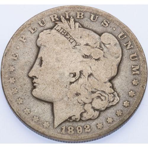 1892-CC Morgan Dollar