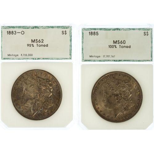1883-O & 1885 Morgan Dollars (PCI)