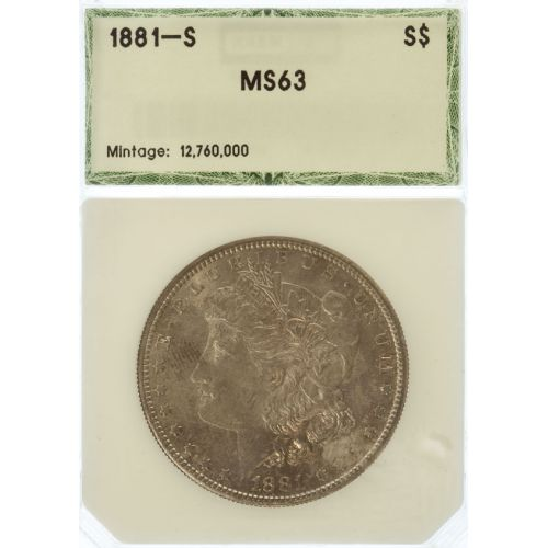 1881-S Morgan Dollar MS-63 (PCI)