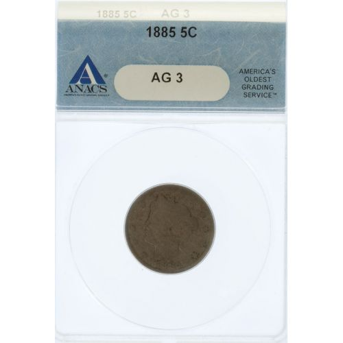 1885 Liberty Nickel AG-3 (ANACS)