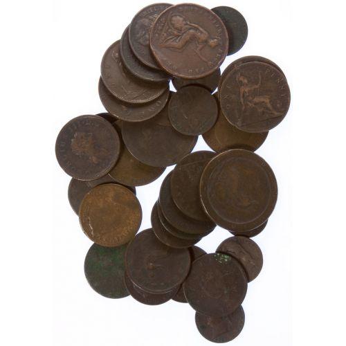 Great Britain: Copper Coins (33pcs.)