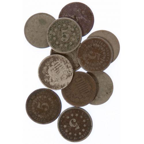 Shield Nickels (10pcs.)