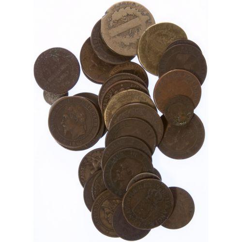 France: Silver & Copper Coins (37pcs.)