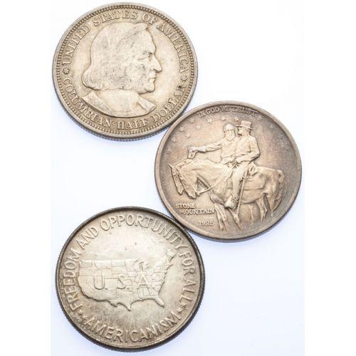 Stone Mountain, Booker T & Columbian Half Dollars