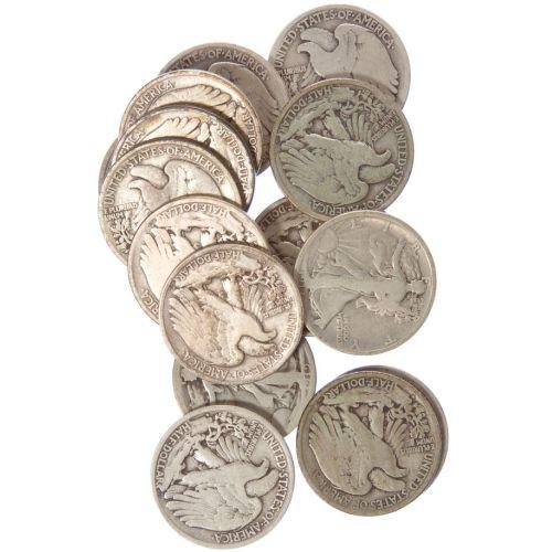 Walking Liberty Half Dollars (16pcs.)