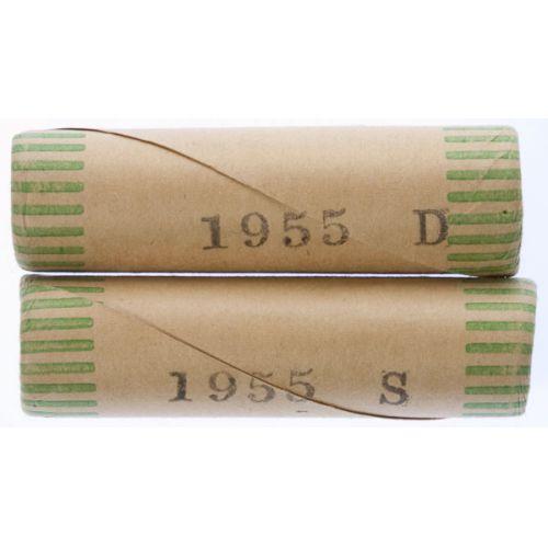 1955-S & 1955-D Roosevelt Dime Rolls
