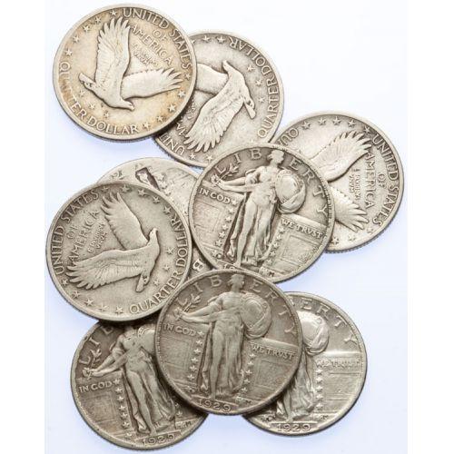 Standing Liberty Quarters (9pcs.)