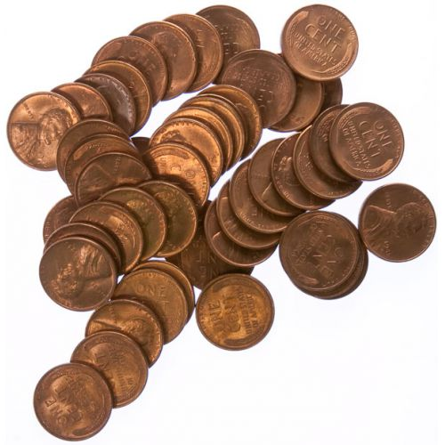 1945-S Lincoln Cent Roll (50pcs.)