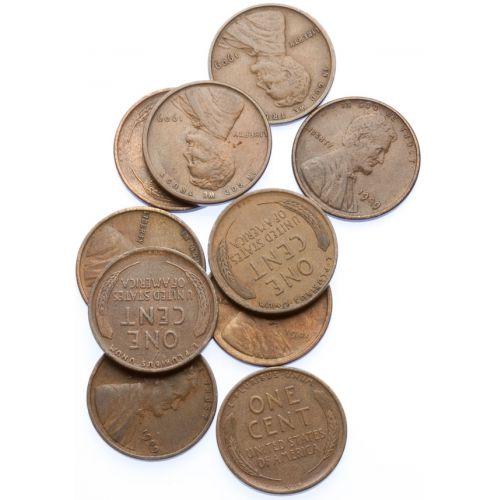1909 VDB Lincoln Cents (10pcs.)