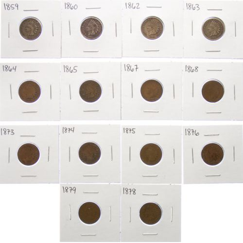 Indian Head Cents (14pcs.)