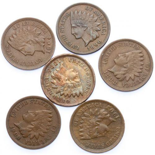 Indian Head Cents (6pcs.)