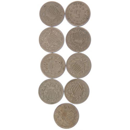 Shield Nickels (9pcs.)