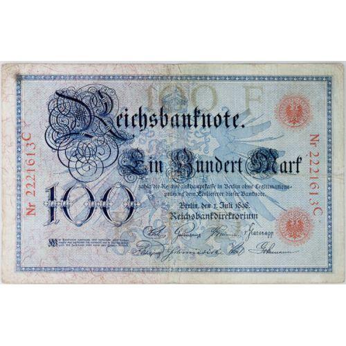Germany: 1898 100 Mark