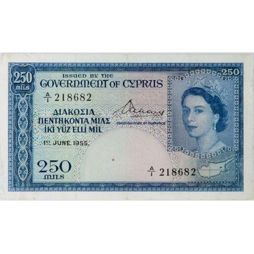 Cyprus: 1955 250 Mils