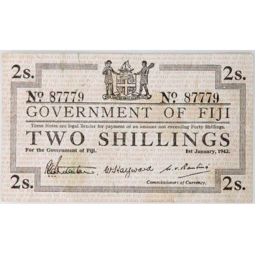 Fiji: 1942 2 Shillings