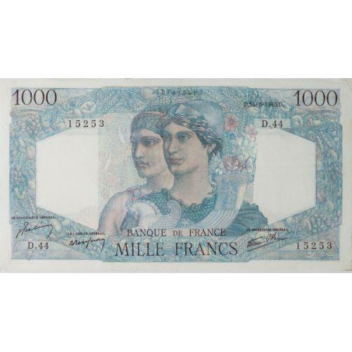 France: 1945 1000 Francs