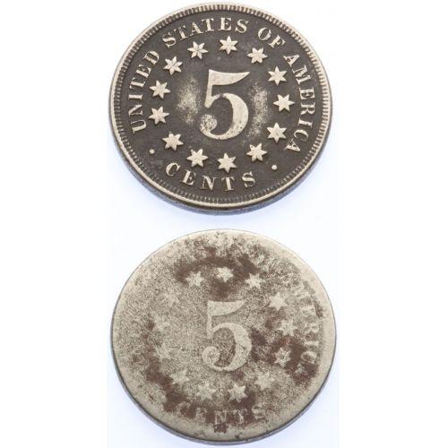 Shield Nickels (2pcs.)