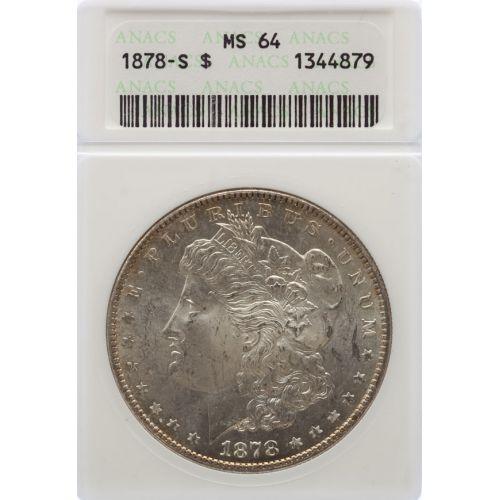 1878-S Morgan Dollar MS-64 (ANACS)