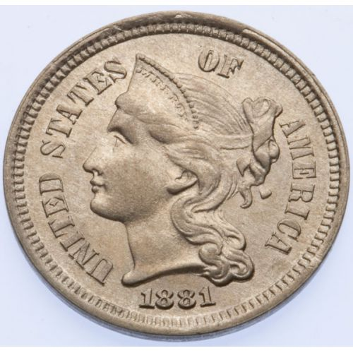 1881 3-Cent Repunched Date