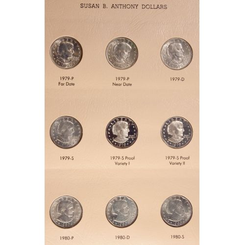 Susan B. Anthony Dollars - Complete Set with Proofs