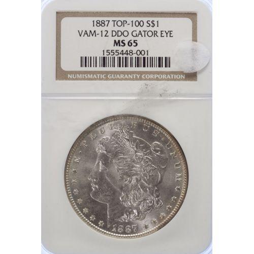 1887 Morgan Dollar VAM-12 MS-65 (NGC)