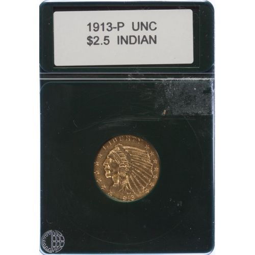 1913 $2 1/2 Gold Indian