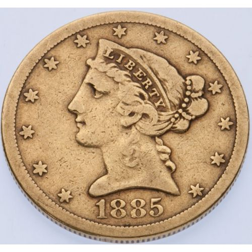 1885-S $5 Gold