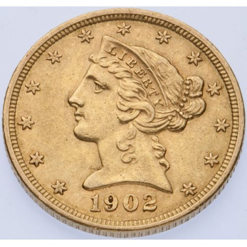 1902 $5 Gold