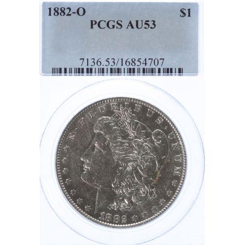 1882-O Morgan Dollar AU-53 (PCGS)
