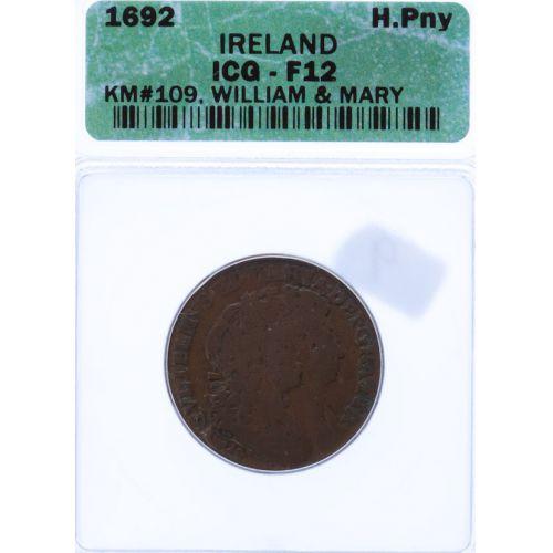 Ireland: 1692 1/2 Penny F-12 (ICG)