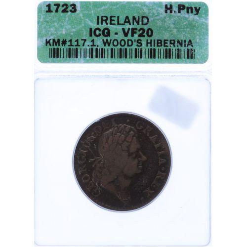Ireland: 1723 1/2 Penny VF-20 (ICG)