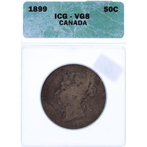 Canada: 1899 50 Cent VG-8 (ICG)