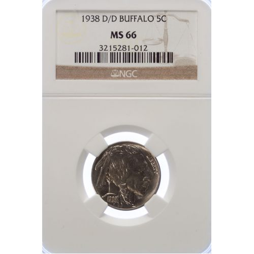 1938-D/D Buffalo Nickel MS-66 (NGC)