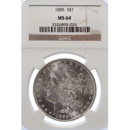 1885 Morgan Dollar MS-64 (NGC)