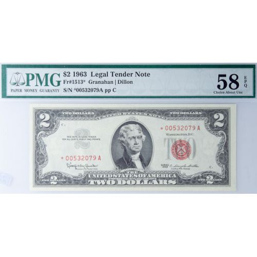 1963 $2 Star Note FR-1513 58 EPQ (PMG)