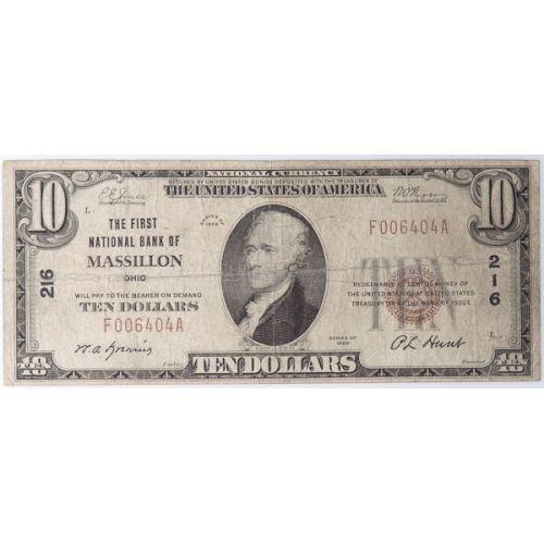 1929 $10 National (Massillon, Ohio)