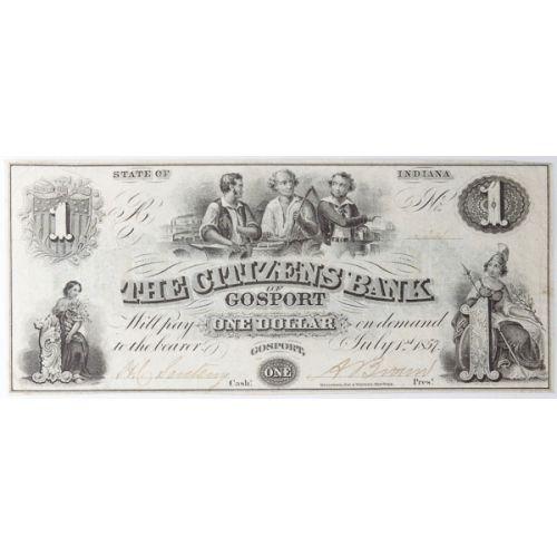 1857 $1 National (Gosport, Indiana)