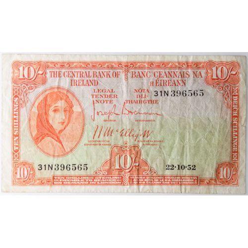Ireland: 1952 10 Schilling Note