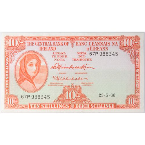 Ireland: 1966 10 Schilling Note