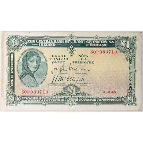 Ireland: 1946 1 Pound Note