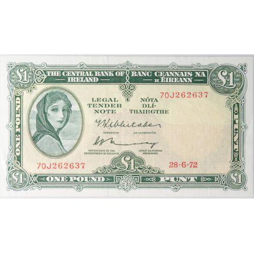 Ireland: 1972 1 Pound Note