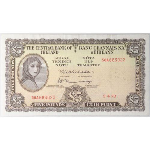 Ireland: 1973 5 Pound Note