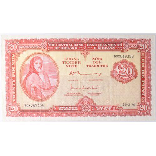 Ireland: 1976 20 Pound Note