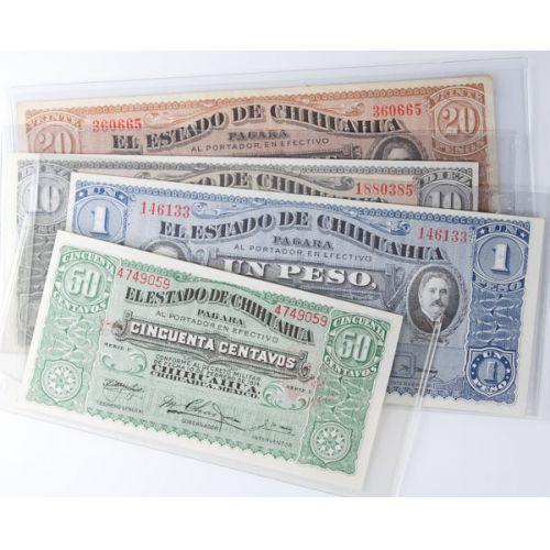 Mexico: 50, 20, 10, 1 Centavo Notes