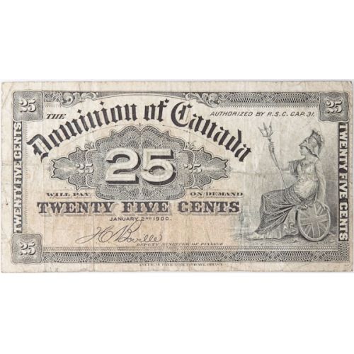 Canada: 1900 25 Cent Fractional Currency