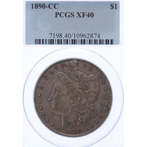 1890-CC Morgan Dollar XF-40 (PCGS)