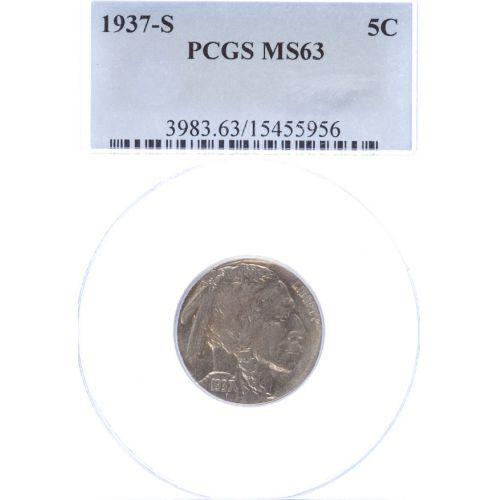 1937-S Buffalo Nickel MS-63 (PCGS)