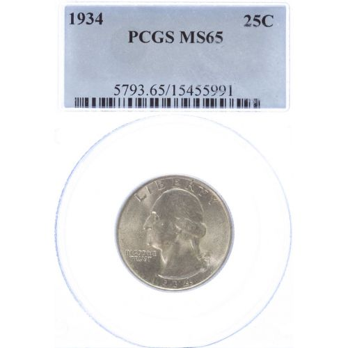 1934 Washington Quarter MS-65 (PCGS)